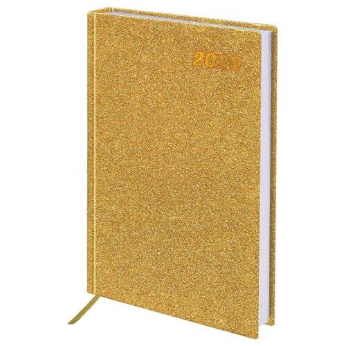 Ежедневник BRAUBERG Holiday датированный на 2020 год, А5, 168 листов, золотистый