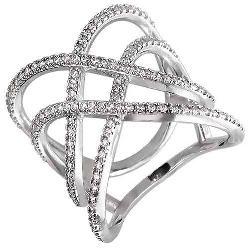 Эстет Кольцо с фианитами из серебра 01К159210, размер 18 ЭСТЕТ