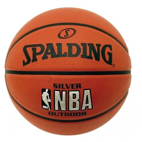 Баскетбольный мяч Spalding NBA Silver, р. 5 оранжевый spalding nba 44