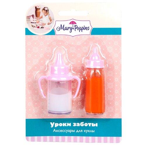 Купить Набор для кормления Mary Poppins Уроки заботы 452139 розовый, Аксессуары для кукол