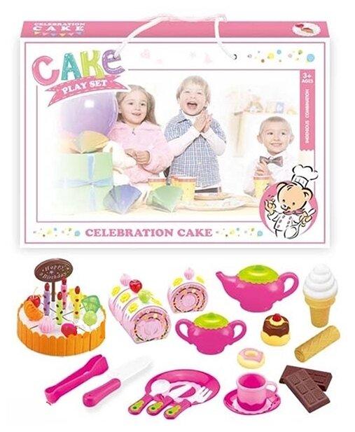 Набор продуктов с посудой Zhorya Праздничный торт ZY663458