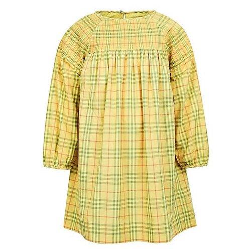 Платье Burberry размер 104, желтый/клетка