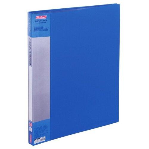 Купить Berlingo Папка с 30 вкладышами Standard, 17 мм, 600 мкм, пластик синий, Файлы и папки