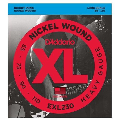 EXL230 XL NICKEL WOUND Струны для бас-гитары Long Heavy 55-110 D`Addario