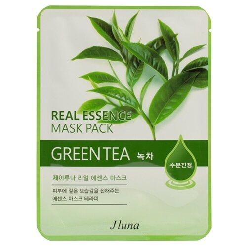 Фото - Juno тканевая маска Real Essence Mask Pack с зеленым чаем, 25 мл маска тканевая juno j luna q10 для лица 3 шт 25 мл