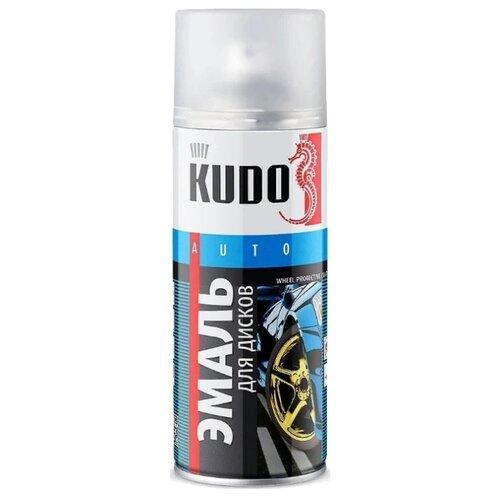 KUDO аэрозольная Эмаль для дисков 520 мл золотой
