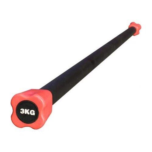 Гимнастическая палка Magnum HKFL110 3 кг розовый/черный
