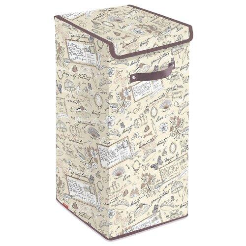 Valiant Корзина для белья с крышкой Romantic RM-BOX-LXL 60х35х35 см бежевый/коричневый valiant корзина для белья с крышкой 35 35 50 см expedition valiant