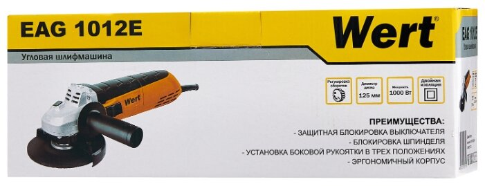 УШМ Wert EAG 1012E, 1000 Вт, 125 мм