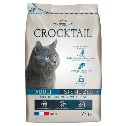 Сухой корм для кошек Flatazor Crocktail Adult Sterilized With Fish 2 кг 2 кг