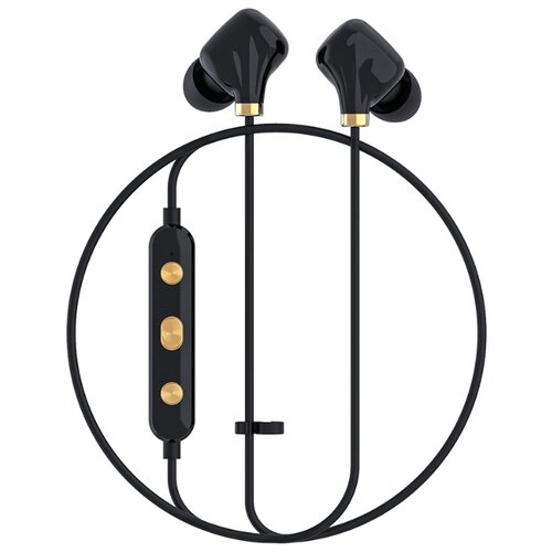 Беспроводные наушники Happy Plugs Ear Piece II black/gold  - купить со скидкой
