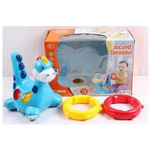 Купить Динозаврик с кольцами, со световыми и звуковыми эффектами, Shenzhen Jingyitian Trade, Развивающие игрушки