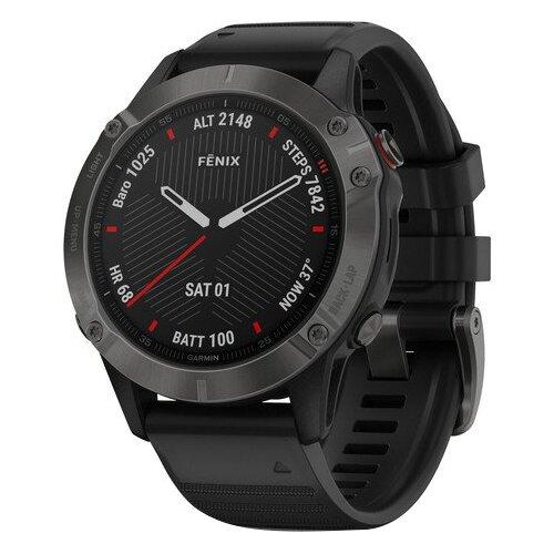 Умные часы Garmin Fenix 6 Sapphire серый/черный
