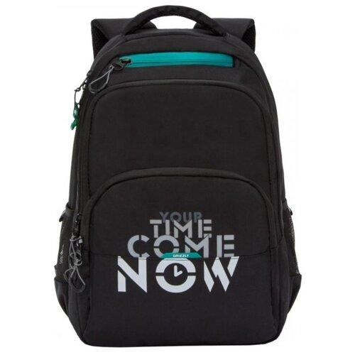 Рюкзак Grizzly RU-030-2/3 21.5 (черный/бирюзовый) рюкзак grizzly ru 802 3 2 16 черный черный