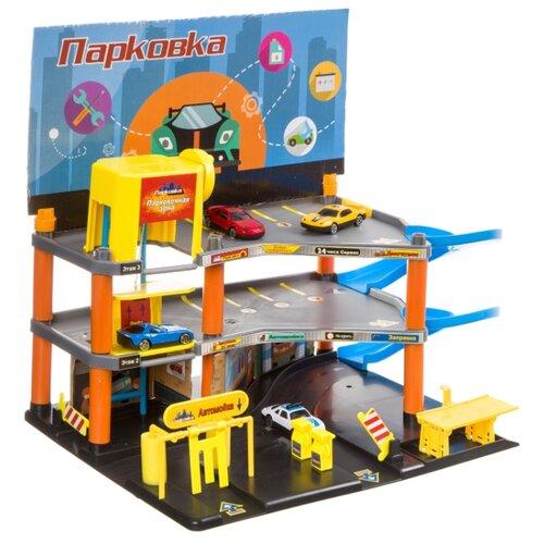Купить Zhorya Твой старт Г93454 желтый/оранжевый/серый/голубой, Детские парковки и гаражи