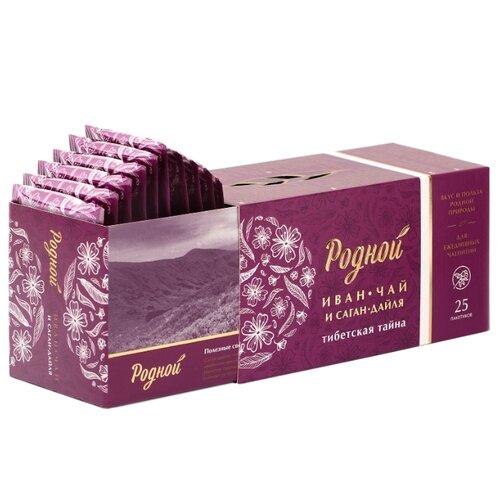 Чай травяной Родной иван-чай с саган-дайля Тибетская тайна в пакетиках, 25 шт. чай травяной polezzno саган дайля 50 г