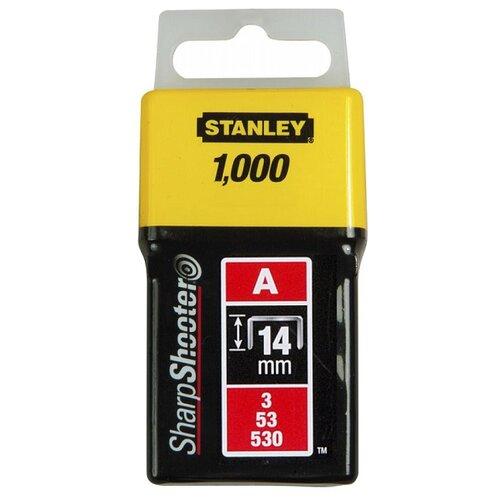 Скобы STANLEY 1-TRA209T тип 53 для степлера, 14 мм скобы для степлера stanley 1 tra209t тип 53 14 мм 1000 шт