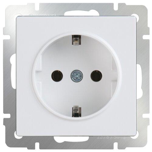 Фото - Розетка Werkel WL01-SKG-01-IP20, 16 А, с заземлением, белый розетка для интернета телефона werkel wl01 rj 11 белый
