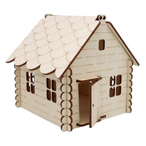 Купить Astra & Craft Деревянная заготовка для декорирования Домик №1 L-1089 береза, Декоративные элементы и материалы