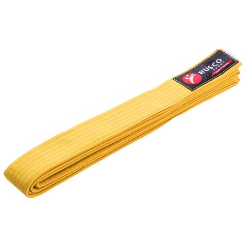 Пояс для единоборств RUSCO, 280 см, желтый