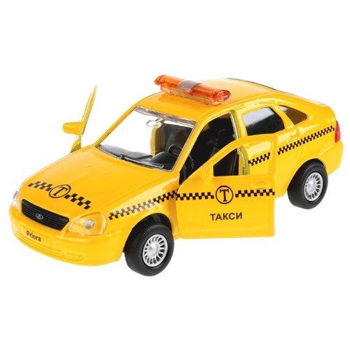 Купить Легковой автомобиль ТЕХНОПАРК Lada Priora хэтчбек (SB-18-22-LP(T)WB) 1:35 12 см желтый, Машинки и техника
