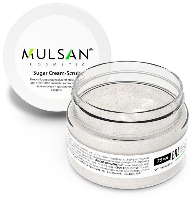 MULSAN Крем скраб для лица Sugar cream