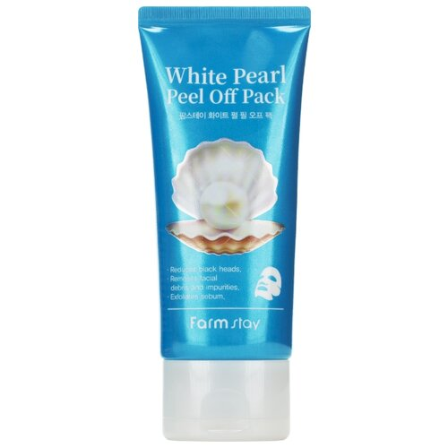 Farmstay маска-пленка White Pearl Peel Off Pack очищающая с белым жемчугом, 100 г недорого