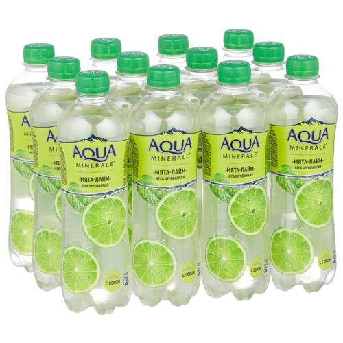 Вода питьевая Aqua Minerale негазированная с соком Мята-лайм, ПЭТ, 12 шт. по 0.5 л вода питьевая aqua minerale active негазированная цитрус спорт пэт 12 шт по 0 5 л