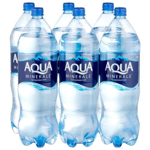 Фото - Вода питьевая Aqua Minerale газированная, ПЭТ, 6 шт. по 2 л вода aqua minerale малина 500 мл