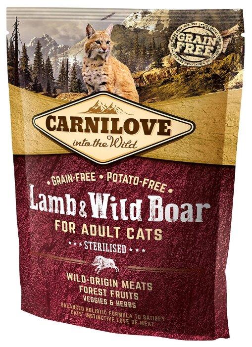 Корм для кошек Carnilove Lamb & Wild Boar Sterilised for adult cats