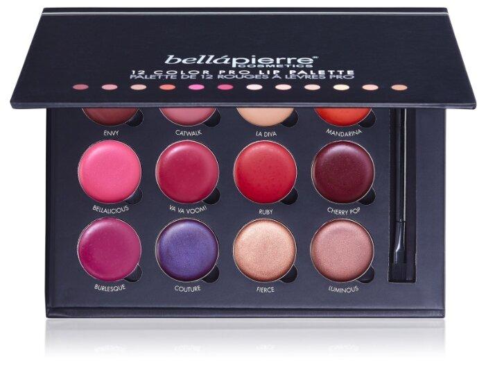 Bellapierre палитра минеральных помад 12 Color Pro Lip Palette