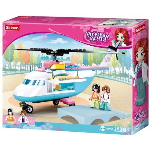 Купить Конструктор SLUBAN Розовая мечта M38-B0798 Вертолет, Конструкторы
