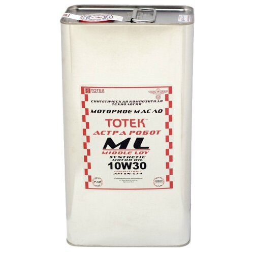 Синтетическое моторное масло TOTEK Астра Робот ML SAE 10W30, 4 л
