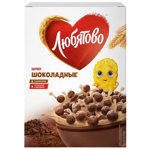 Готовый завтрак Любятово Шарики шоколадные, коробка, 250 г