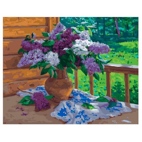 ВанГогВоМне Картина по номерам Сирень в вазе, 40х50 см (ZX 21135)Картины по номерам и контурам<br>