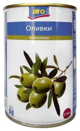 ARO Оливки зеленые без косточки, 314 г