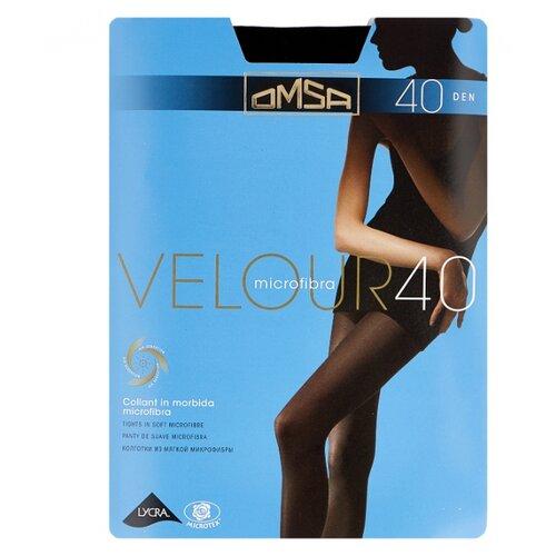 Колготки Omsa Velour 70 den, размер 3-M, nero (черный) колготки glamour velour 2 70 den черный