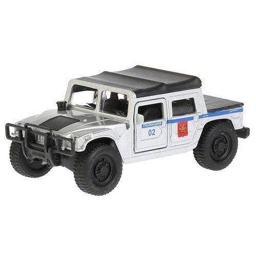 Купить Внедорожник ТЕХНОПАРК Hummer H1 Полиция (SB-18-09-H1-P-WB) 12 см серый/синий, Машинки и техника