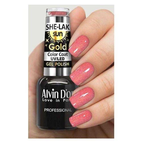 Купить Гель-лак для ногтей Alvin D'or She-Lak Sun Gold, 8 мл, оттенок 6404