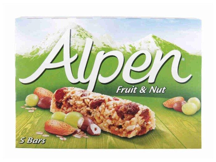 Злаковый батончик Alpen с изюмом и орехами 5 шт 140 г
