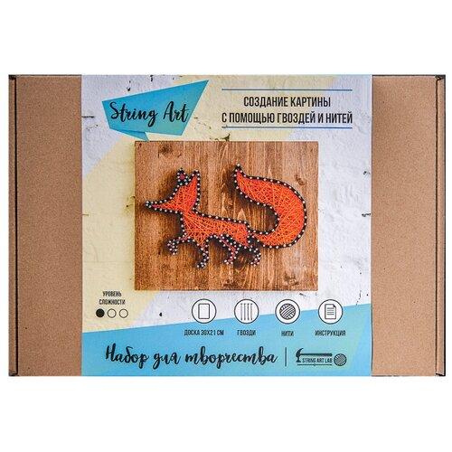 String Art Lab Набор для творчества Лиса (A4002), Поделки и аппликации  - купить со скидкой