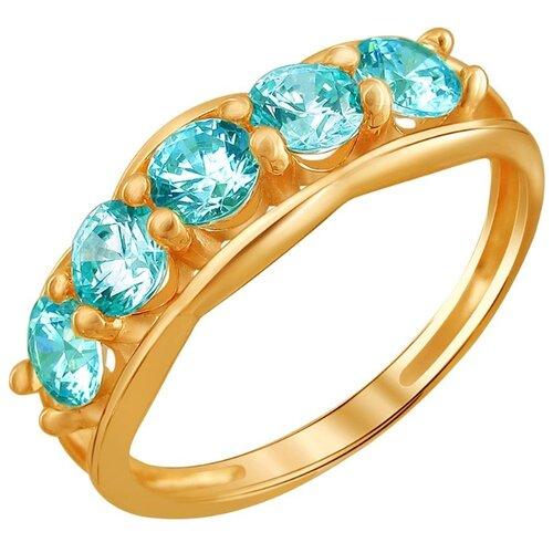 Эстет Кольцо с 5 фианитами из красного золота 01К2110859-1, размер 16 эстет кольцо с 5 фианитами из красного золота 01к115186 размер 16