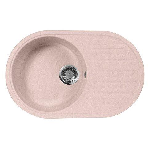 Врезная кухонная мойка 73 см А-Гранит M-18 розовый