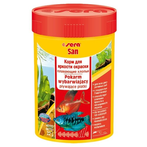 Сухой корм для рыб Sera Sera San для улучшения окраски 250 мл 60 г