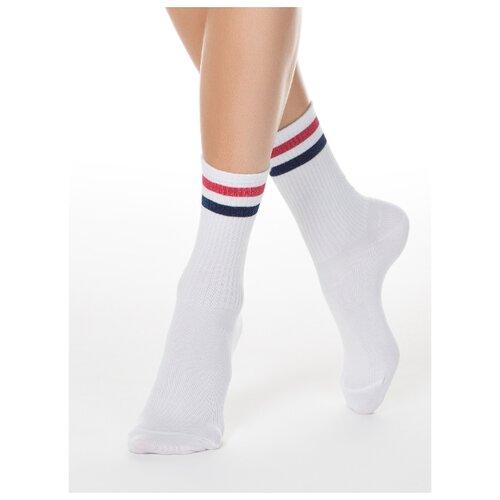 Фото - Носки Conte Elegant Active 19С-65СП 157, размер 23, белый/красный носки conte elegant comfort 19с 101сп размер 23 темно бордовый