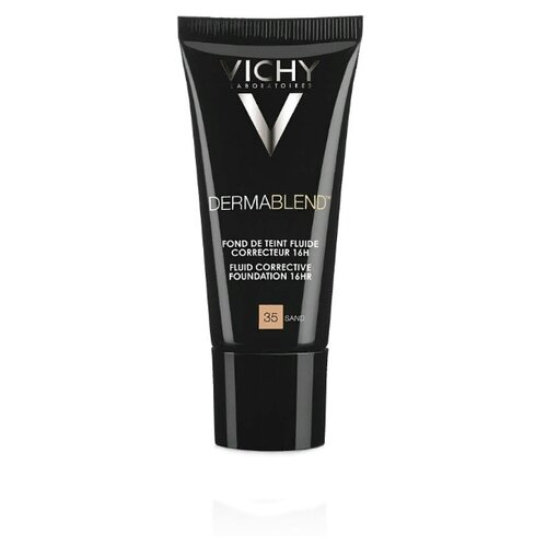 Vichy Тональный флюид Dermablend, 30 мл, оттенок: 35 Sand консилер dermablend cosmetique corrective от vichy