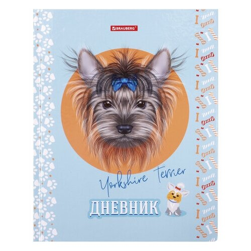 цена на BRAUBERG Дневник Гав-Гав 105567 голубой/оранжевый