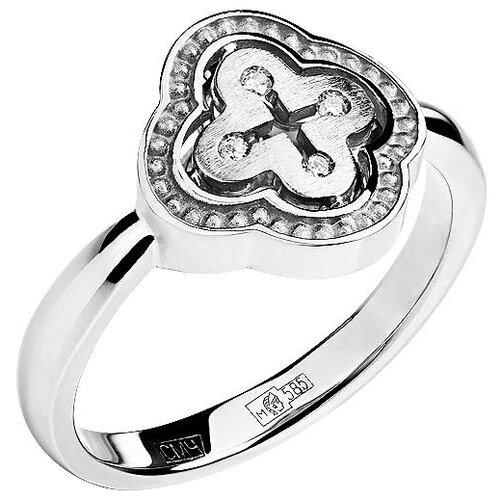 Эстет Кольцо с 4 бриллиантами из белого золота 01К628747, размер 18
