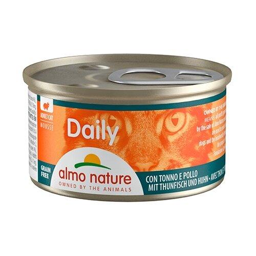 Фото - Корм для кошек Almo Nature Daily Menu с тунцом, с курицей 85 г консервы для кошек almo nature нежный мусс с уткой 85 г