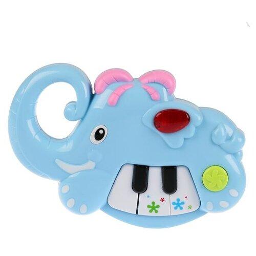 развивающая игрушка умка обучающее пианино м дружинина разноцветный Развивающая игрушка Умка Музыкальный слоненок с пианино, голубой